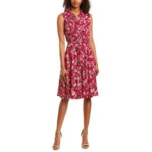NWT Nanette Lepore Button Down Berry Floral Dress